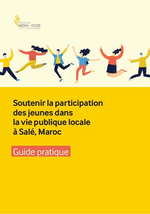 1 Soutenir la participation des jeunes dans la vie publique locale à Salé, Maroc Guide pratique