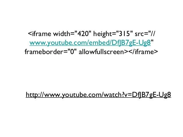 """<iframe width=""""420"""" height=""""315"""" src=""""// www.youtube.com/embed/DfJB7gE-Ug8"""" frameborder=""""0"""" allowfullscreen></iframe>  htt..."""