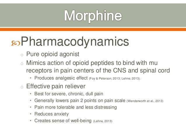 morphine mechanism of action pdf