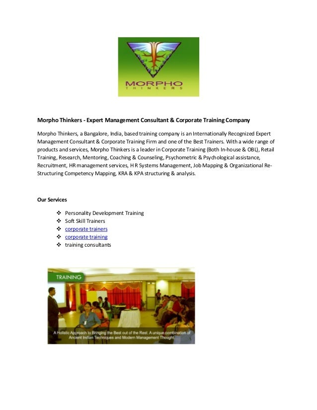 Morpho Thinkers - Expert Management Consultant & Corporate Training Company Morpho Thinkers, a Bangalore, India, based tra...