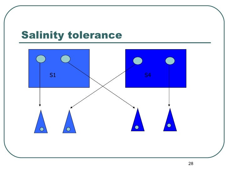 Salinity tolerance S1 S4