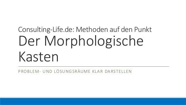 Auf Den Punkt Der Morphologische Kasten Consulting Lifede