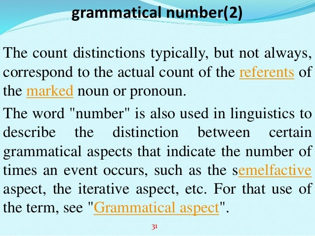 Grammatical number