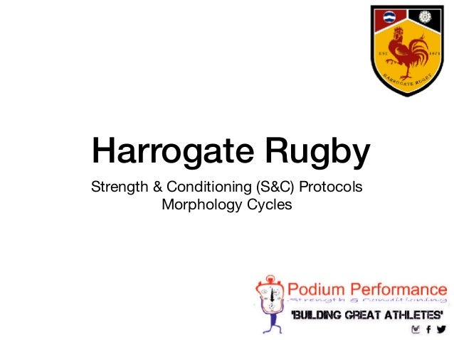 Harrogate Rugby Strength & Conditioning (S&C) Protocols  Morphology Cycles