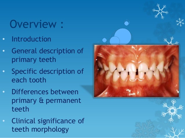 Introduction The morphology of primary teeth is very important clinically during performing various procedures. Cavity pre...