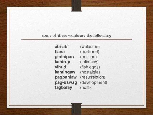 Nostalgic tagalog meaning