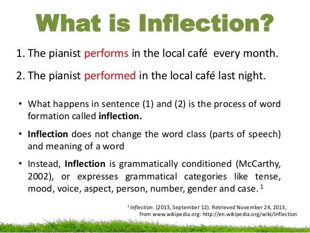 inflection in morphology  linguistics