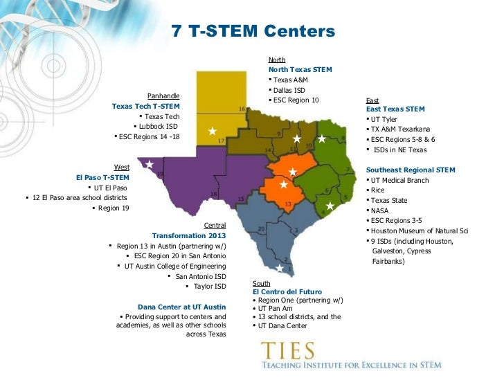 Map Of Texas Esc Regions.Transforming The Education Of Future Generations