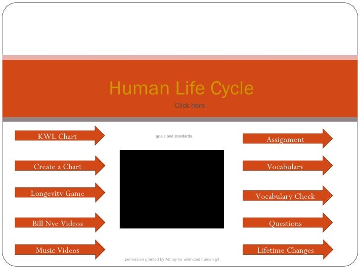 Human Life Cycle Questions Create a Chart Assignment Vocabulary Longevity Game Vocabulary Check Bill Nye Videos KWL Chart ...