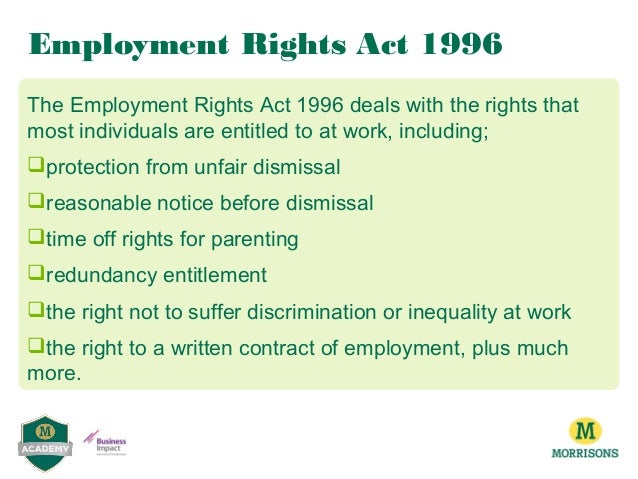 An analysis of employment rights act 1996