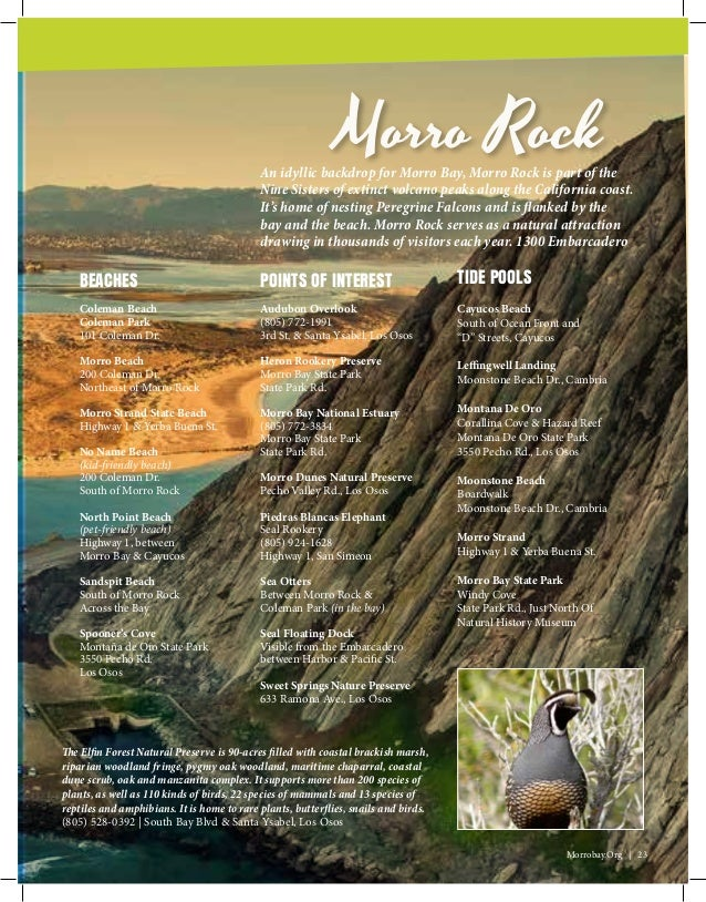 Morro Bay California visitor guide for the 2017 Rescue Water Craft on