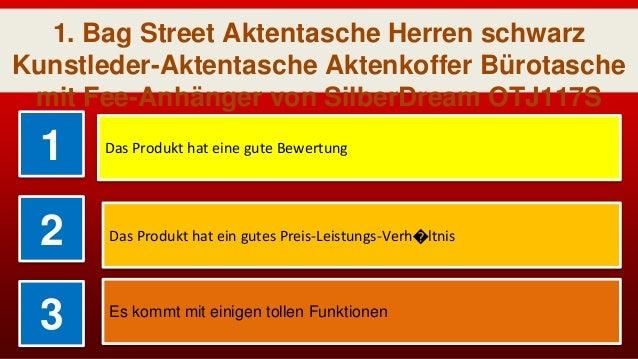 b6cb9571a98f3 Bag Street Aktentasche Herren schwarz Kunstleder-Aktentasche Aktenkoffer  Bürotasche  3.