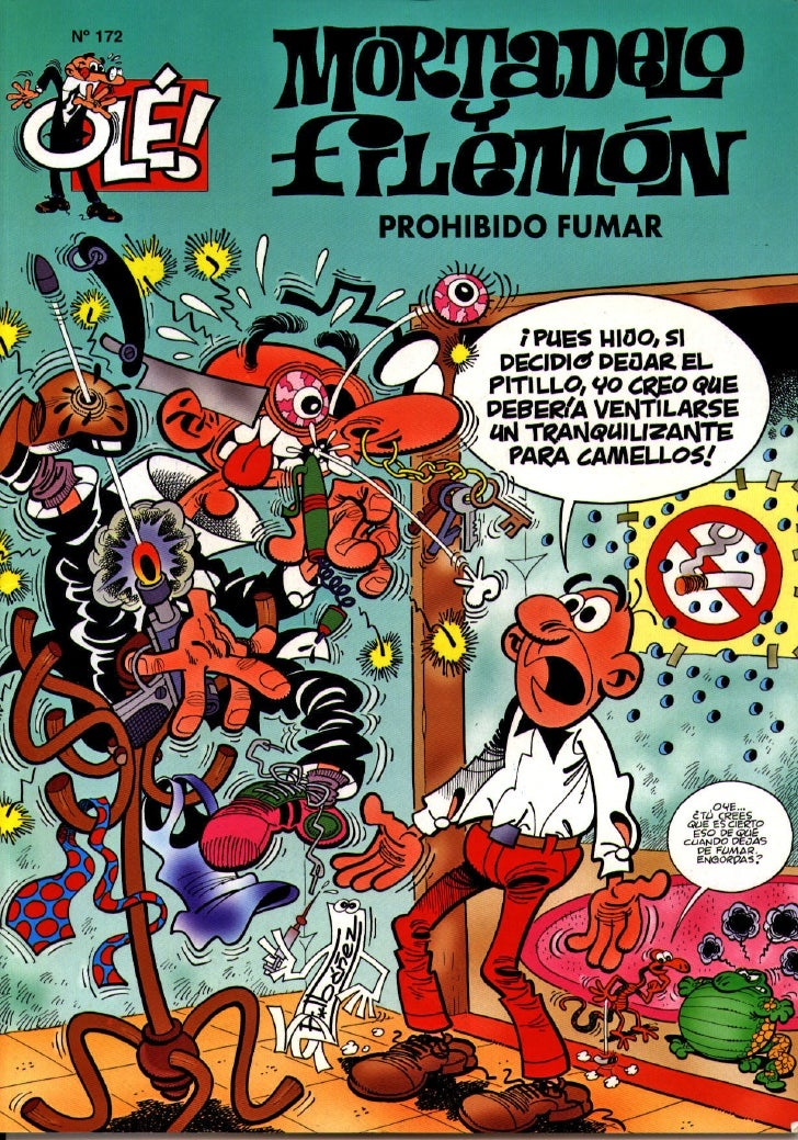 Mortadelo y Filemón contra el tabaquismo