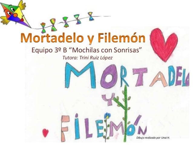 "Equipo 3º B ""Mochilas con Sonrisas"" Tutora: Trini Ruiz López Dibujo realizado por Unai H."