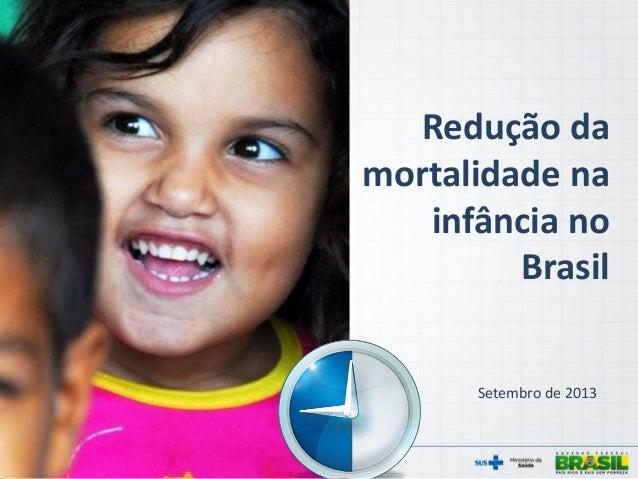 Redução da mortalidade na infância no Brasil Setembro de 2013