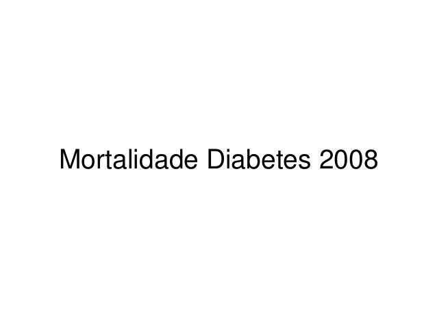 Mortalidade Diabetes 2008