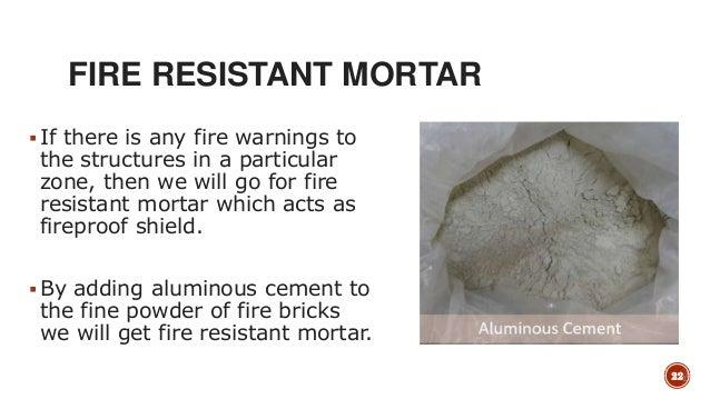 Heat Proof Mortar : Mortar masonry