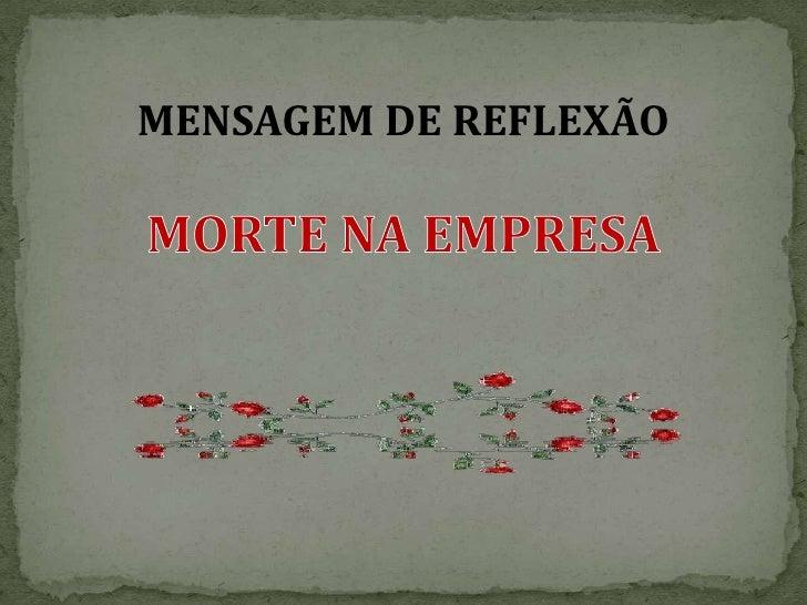 MENSAGEM DE REFLEXÃO