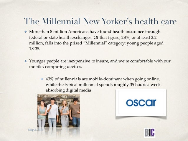 The Millennial NewYorker's health care ✤ More than 8 million Americans have found health insurance through federal or stat...