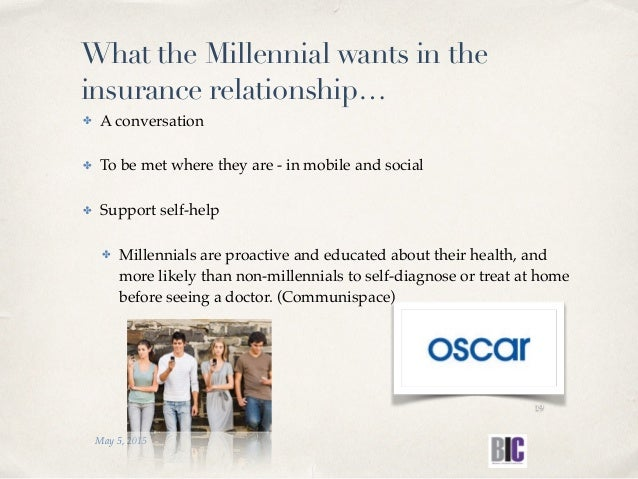 ✤ A conversation ✤ To be met where they are - in mobile and social ✤ Support self-help ✤ Millennials are proactive and edu...