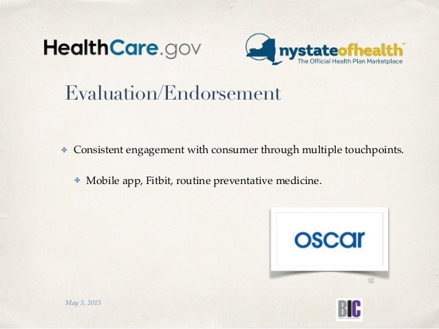 Evaluation/Endorsement ✤ Consistent engagement with consumer through multiple touchpoints. ✤ Mobile app, Fitbit, routine p...