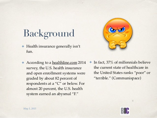 ✤ Health insurance generally isn't fun. ✤ According to a healthline.com 2014 survey, the U.S. health insurance and open en...