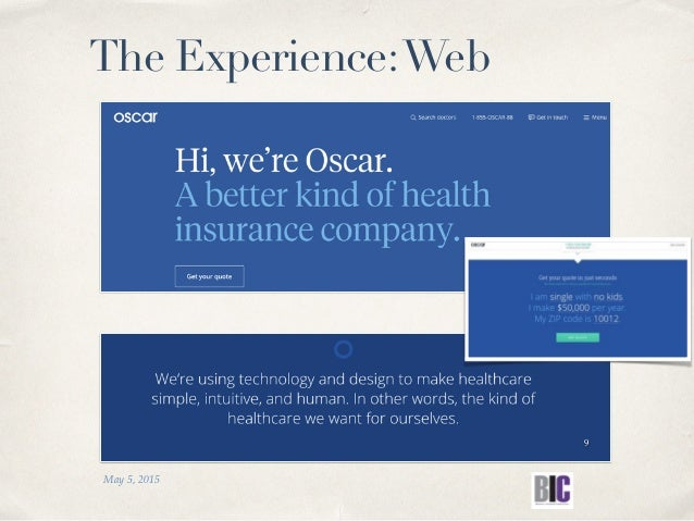 May 5, 2015 9 The Experience:Web