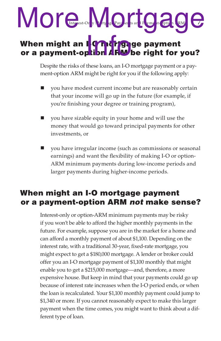 Mortgage Pay Options Brochure