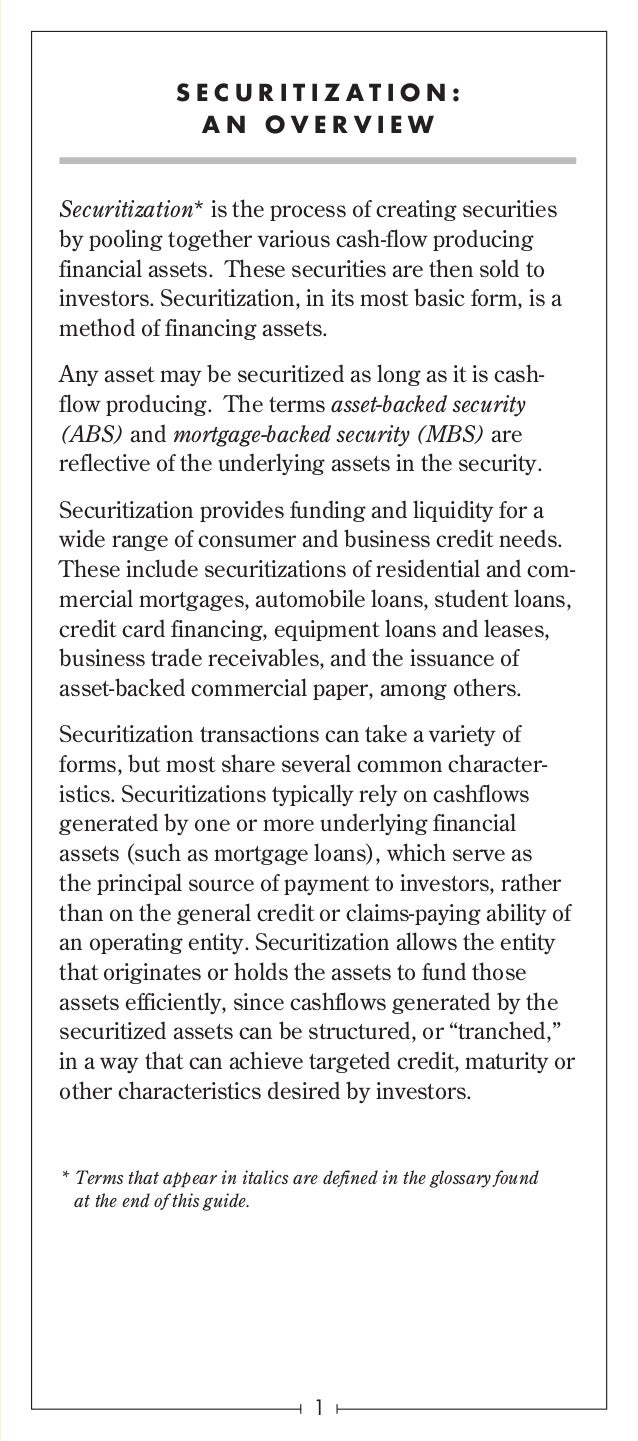 the benefits of mortgage backed securities Non-agency mbs have attractive fundamentals as consumers benefit from a  stronger dollar and lower energy prices flexible strategies with.