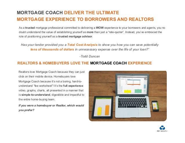Mortgage Coach Scripts 2016