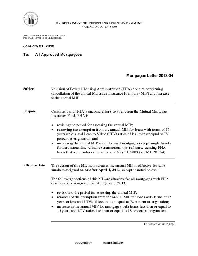 U.S. DEPARTMENT OF HOUSING AND URBAN DEVELOPMENT                                        WASHINGTON, DC 20410-8000ASSISTANT...