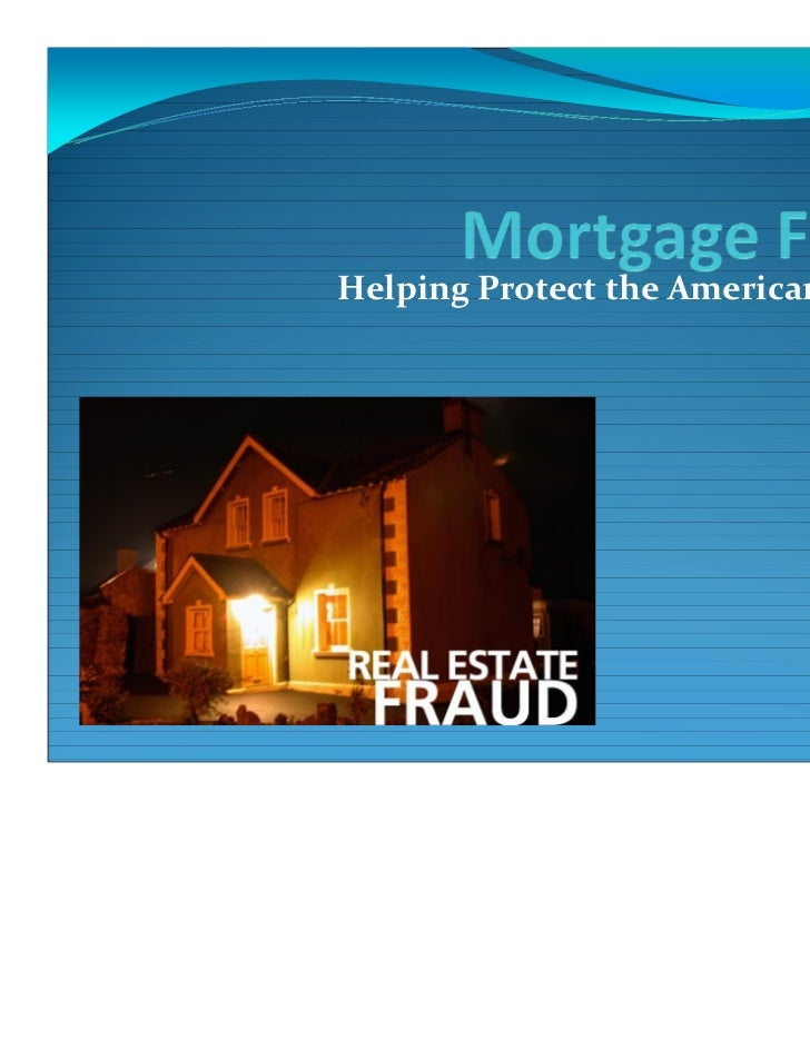 Oregon Mortgage Fraud and State RICO