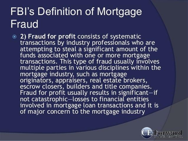 mortgage fraud essay