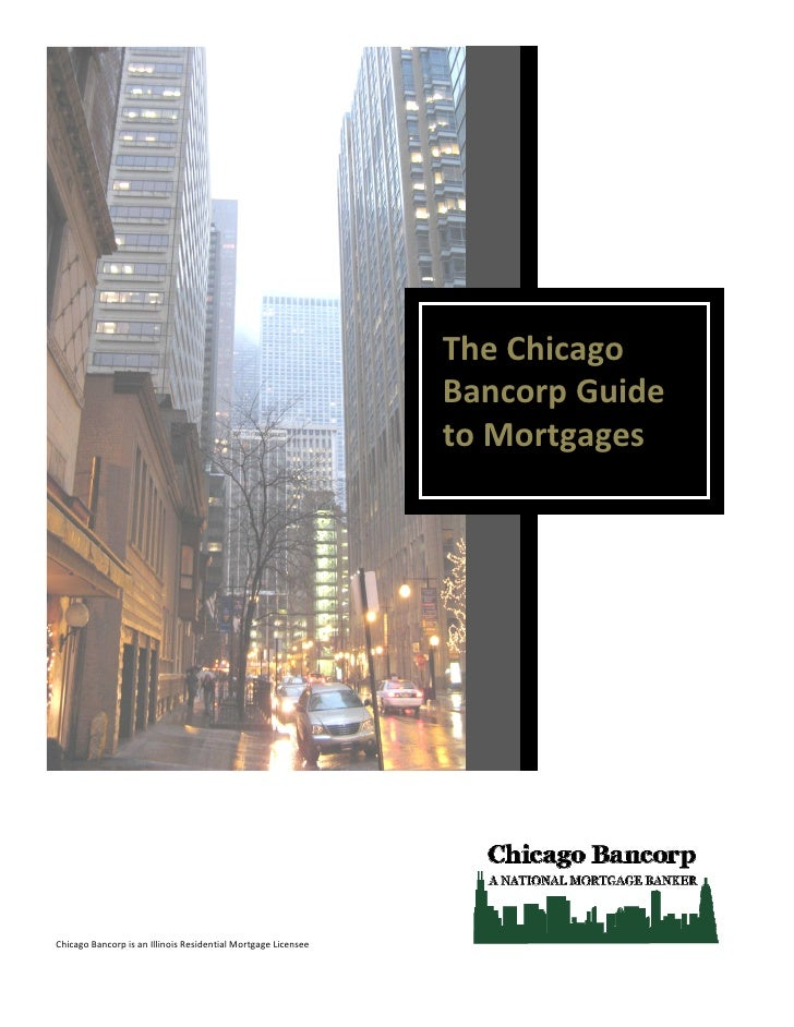 The Chicago                                                               Bancorp Guide                                   ...