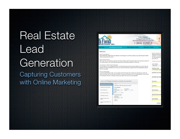 Real Estate Lead Generation Capturing Customers with Online Marketing