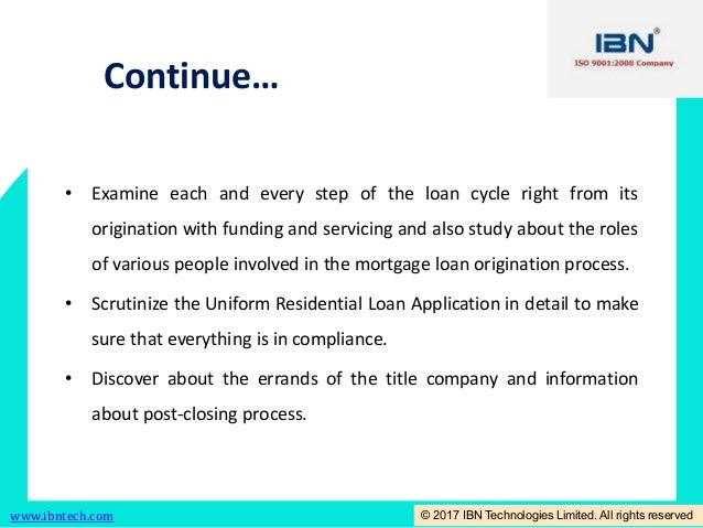 loan application process cycle time