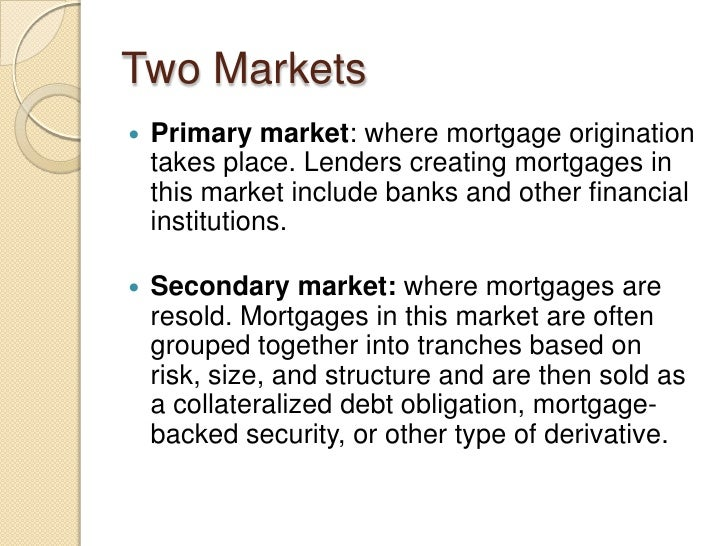 Mortgage market presentation pt 1 2 for What type of loan do i need to buy land