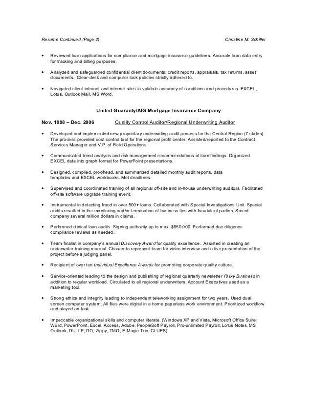 Mortgage Resume 2012 Online