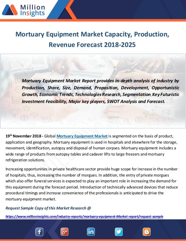Mortuary Equipment Market Capacity, Production, Revenue