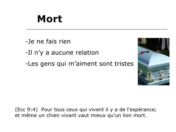 Mort Vie Survie Slide 2