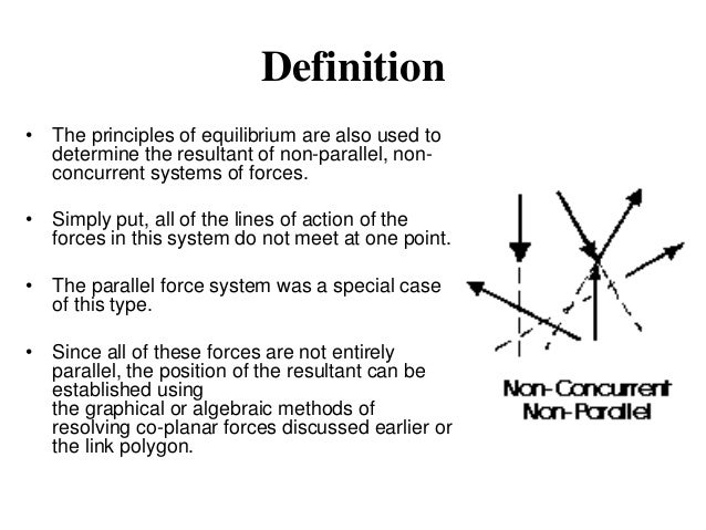polygon of forces and condition of equilibrium Equilibrium of forces [] at the beginning of this chapter it was mentioned that resultant forces cause objects to accelerate if an object is stationary or moving at constant velocity then either.