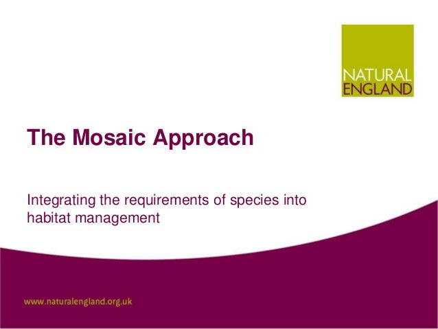 The Mosaic Approach Integrating the requirements of species into habitat management