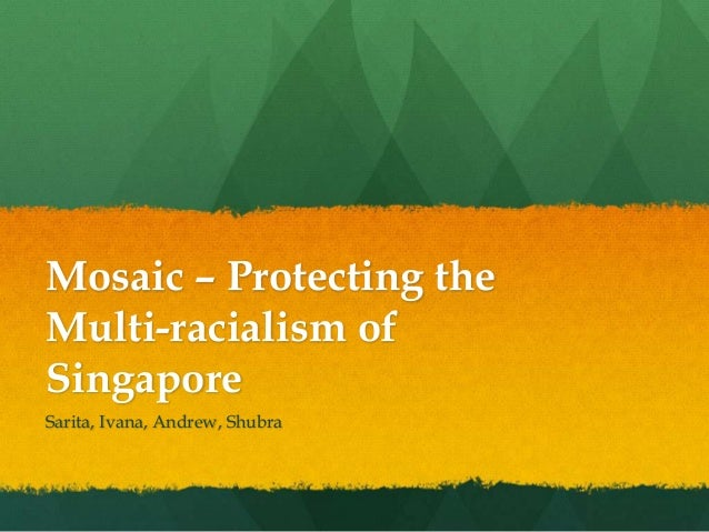 Mosaic – Protecting the Multi-racialism of Singapore Sarita, Ivana, Andrew, Shubra
