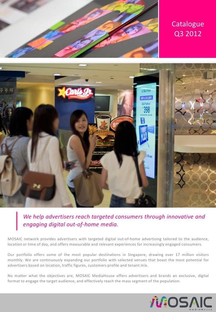 Catalogue                                                                                        Q3 2012        We help ad...