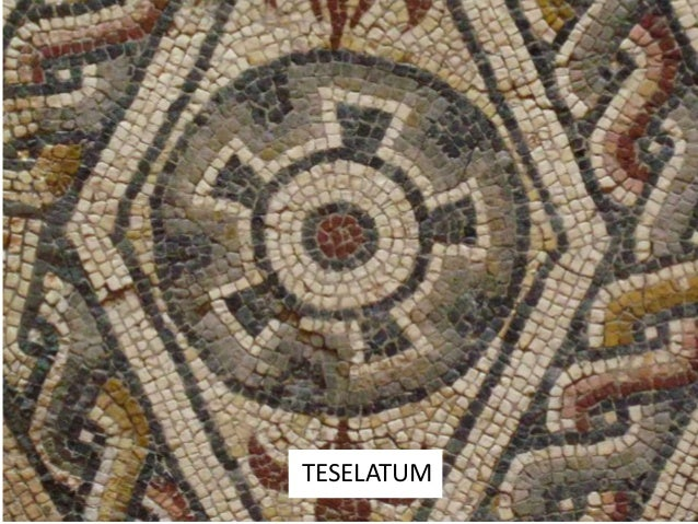 ESTILOS DEL MOSAICO Conos de arcilla Guijarros Teselas: piedra, ladrillo, oro, pasta vítrea