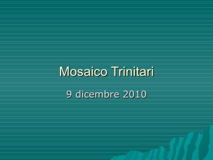 Mosaico Trinitari 9 dicembre 2010