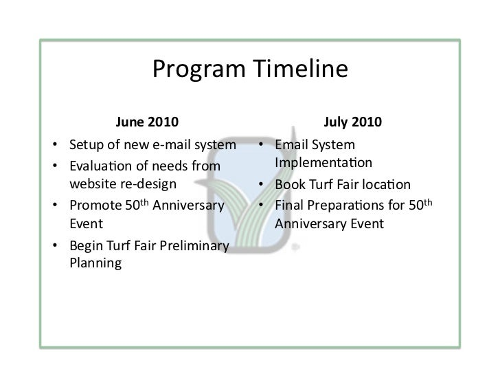 ProgramTimeline          June2010                           July2010• Setupofnewe‐mailsystem    • EmailSyst...