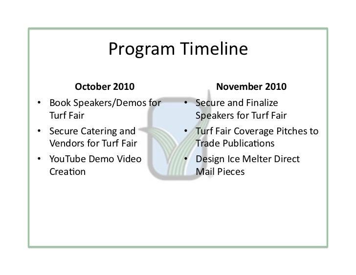 ProgramTimeline        October2010               November2010• BookSpeakers/Demosfor   • SecureandFinalize ...