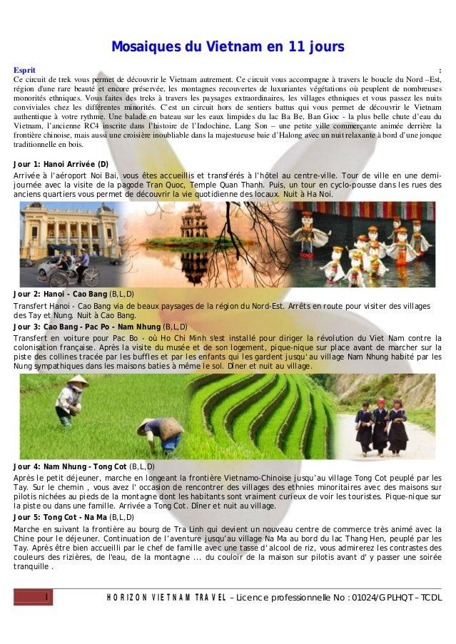 Mosaiques du Vietnam en 11 joursEsprit                                                                                    ...