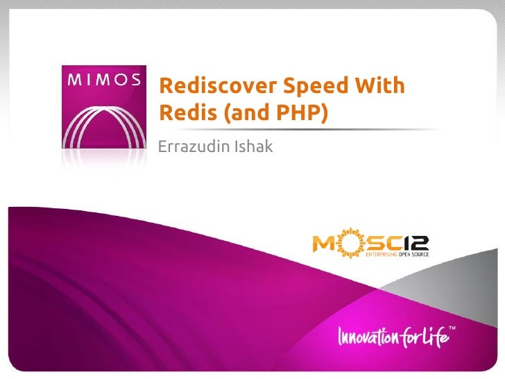 Rediscover Speed WithRedis (and PHP)Errazudin Ishak